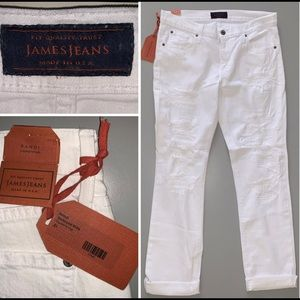 """James Jeans"" White Destroyed Jeans NWT Size 31"